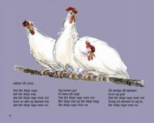 Høna på vagle red